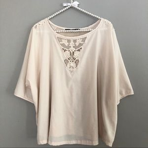 Zara Lace Top Blouse Size M